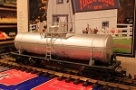 Undecorated Silver 10,000 Gal Tank Car