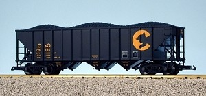 USA Trains Ultimate Series Chessie 70 Ton Hopper