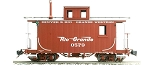 Narrow Gauge Short Caboose D&RGW #0579 Flying Rio Grande