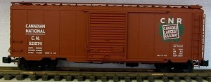 AML/Canada G scale 40' Boxcar Canadian National with steel wheels    CANADA'S LARGEST RAILWAY