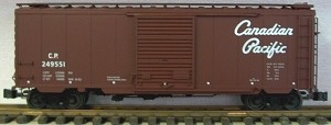 AML/Canada G scale 40' Boxcar Canadian Pacific with steel wheels