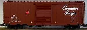 AML/Canada G scale 40' (newsprint boxcar) Canadian Pacific  with steel wheels