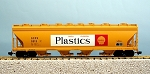 USA Trains Ultimate Series Shell 4 Bay Center Flow Hopper Car