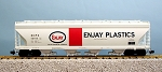 USA Trains Ultimate Series Enjay Plastics 4 Bay Center Flow Hopper Car