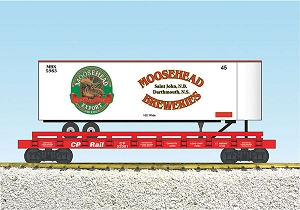 Moosehead Breweries Trailer on Canadian Pacific flatcar