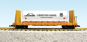Union Pacific Bulkhead flatcar with tank #98230