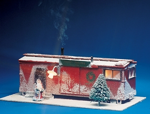 USA Trains Christmas Track side shanty