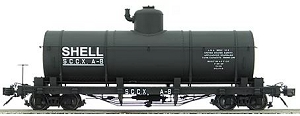 AM22-01   Accucraft /AMS Narrow gauge Tank car  (Shell Oil Co.)