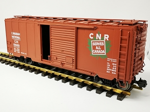 USED American Mainline  CN Boxcar #536453 with USA Train's trucks with ball bearing steel wheels