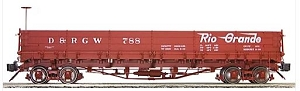 AM20-505   Accucraft /AMS Narrow gauge Drop Bottom Gondola (Flying Logo)