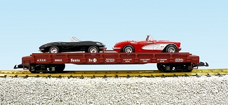 Southern Pacific auto flatcar with 2 Corvettes