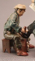 Shoeshine Figure with Bench