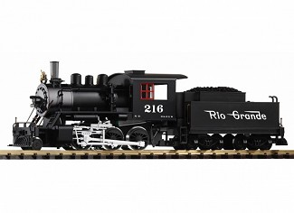 PIKO 38220 D&RGW Mogul Loco 216 w/Lights and Smoke