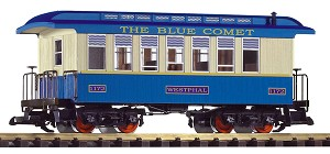 PIKO 38620 Blue Comet Wood Coach w/Metal Wheels