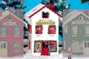 Piko 62712 North Pole Toy Workshop #1 (built up, assembled model)