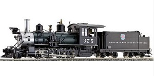 D&RGW C-25 #375 Green Boiler with Moffat, Coal Fired
