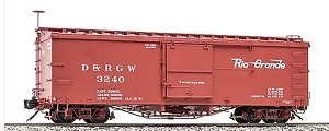 AM22-01   Accucraft /AMS Narrow gauge D&RGW Boxcar  (Flying Logo)