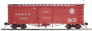 AM22-01   Accucraft /AMS Narrow gauge D&RGW Boxcar  (Moffat Logo)