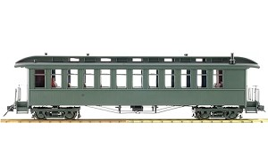 Accucraft 1.20.3 scale  J&S Coach - Unlettered Green, 1 car