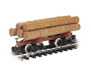 Skeleton Log car with logs