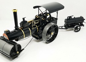 Allchin 3/4 scale roller engine ..live steam..was displayed only..fired once... includes a water bowser trailer