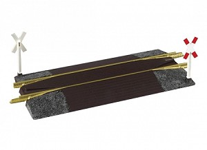 Piko 35281 Brass Level Crossing/Rerailer with signs