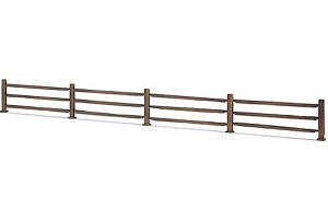 Brown Split Rail Fence