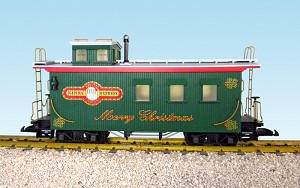 Christmas Wood Side Caboose