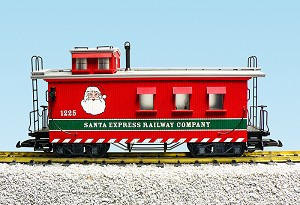 R12026 Christmas Wood Side Caboose