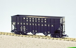 USA Trains Ultimate Series Pennsylvania  Wood Chip Hopper Car