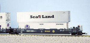 USA Trains Ultimate Series BNSF intermodal cars  5 pack no containers