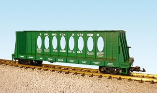 Burlington Northern Center Beam Flat Car