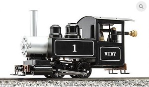 AC77-010 Ruby #1 Black, No Pressure Gauge, Live Steam, RTR